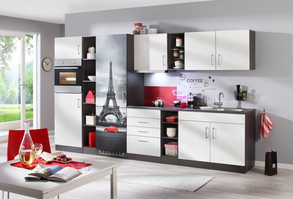 held m bel k chenzeile mit e ger ten paris gesamtbreite 340 cm online kaufen otto. Black Bedroom Furniture Sets. Home Design Ideas