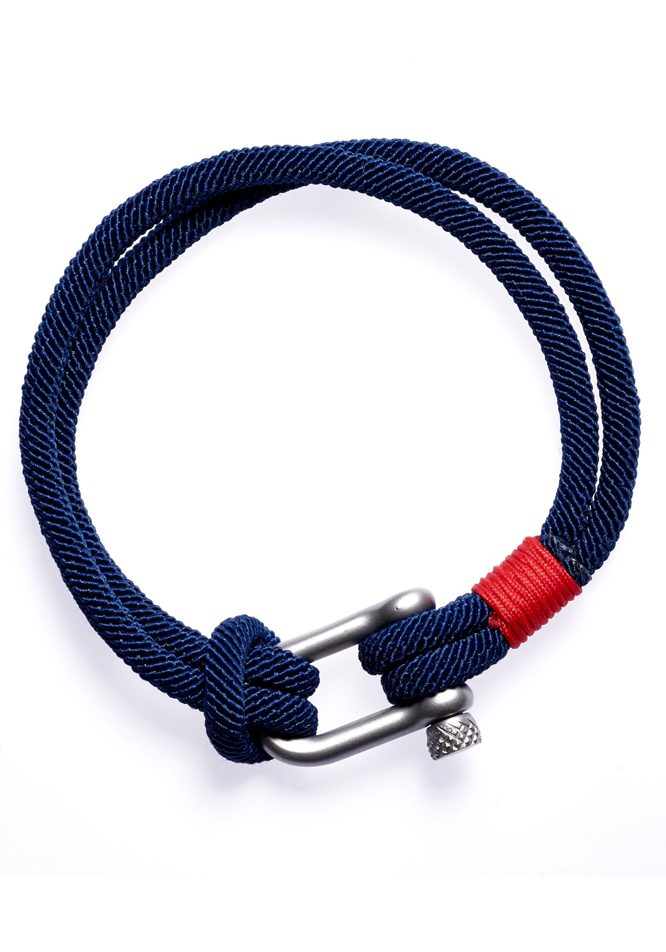 ROYAL EGO Armband »Clasp dk. blue red silver, 1405«
