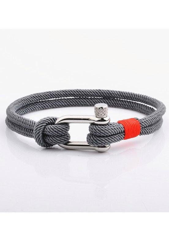 ROYAL EGO Armband »Clasp grey red silver, 1406«