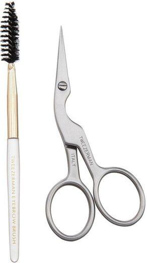 TWEEZERMAN Augenbrauen-Kosmetika »Brow Shaping Scissors & Brush«, 2-tlg.