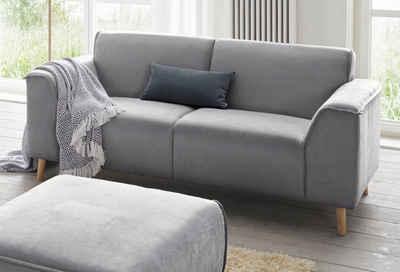 andas 2-Sitzer »Janek«, mit Federkern und Keder in scandinavischem Design