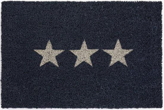 Fußmatte »Kokos Star«, Andiamo, rechteckig, Höhe 15 mm, In- und Outdoor geeignet