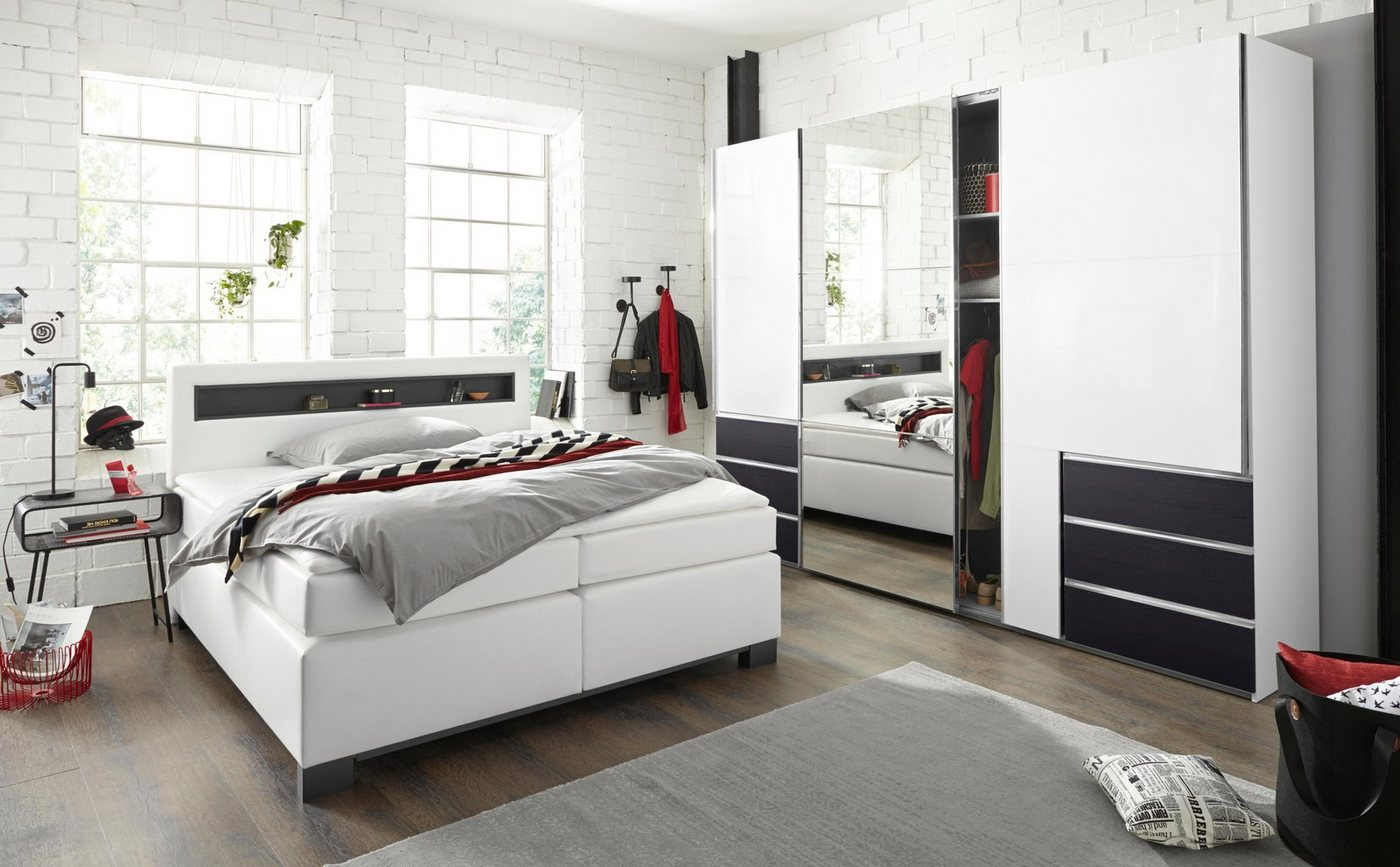 bruno banani Nachttisch mit drei Schubladen | Schlafzimmer > Nachttische | Weiß | Bruno Banani