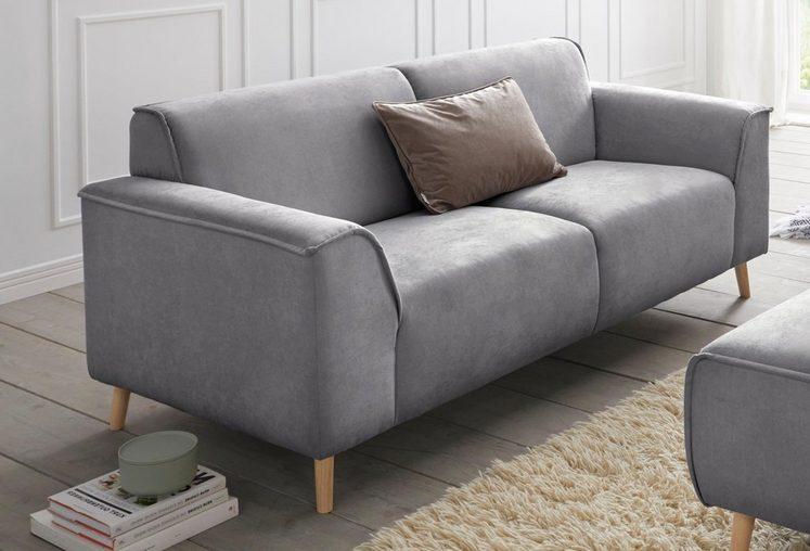 andas 2,5-Sitzer »Janek«, mit Federkern und Keder in scandinavischem Design