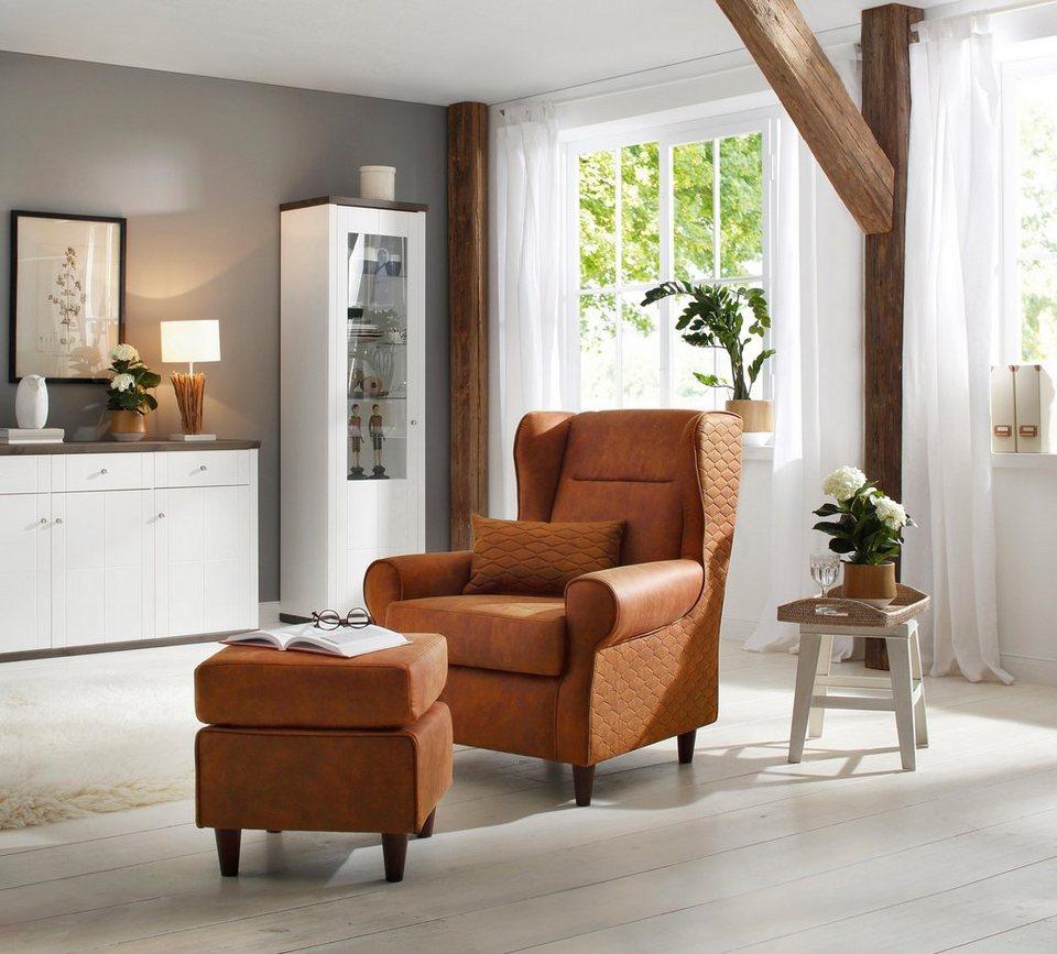 home affaire ohrensessel eric inklusive hocker in. Black Bedroom Furniture Sets. Home Design Ideas