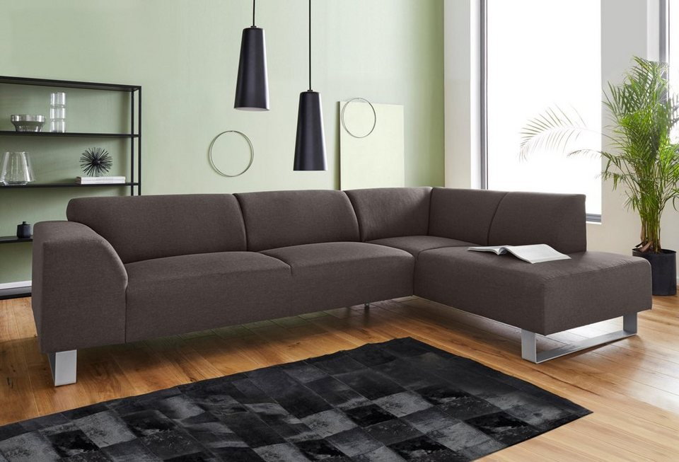 inosign polsterecke mit 3 sitzer und ottomane bingo mit metall fu gestell online kaufen otto. Black Bedroom Furniture Sets. Home Design Ideas