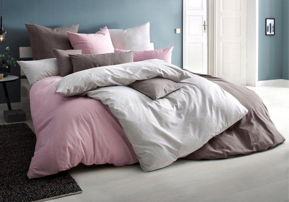bettw sche melli my home selection in washed optik im leinen look online kaufen otto. Black Bedroom Furniture Sets. Home Design Ideas