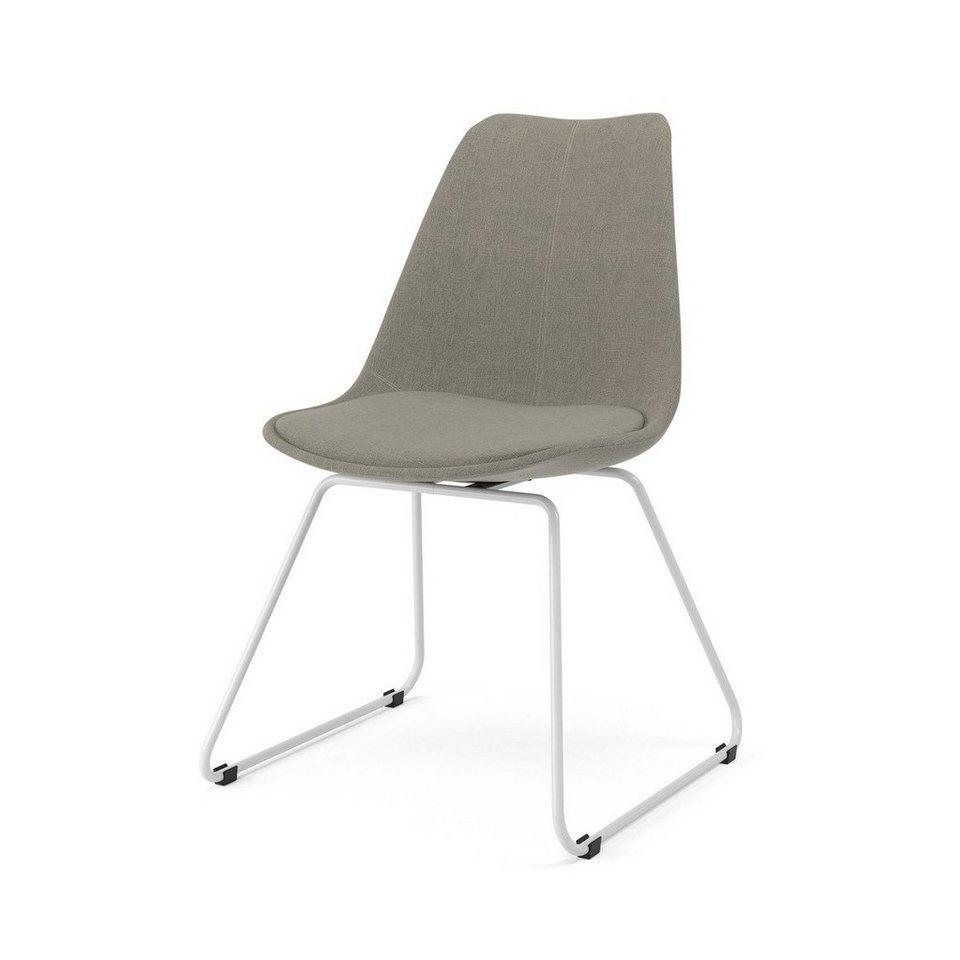 Innenarchitektur Stuhl Stoff Grau Sammlung Von Kasper-wohndesign Metallkufe Versch. Farben »malim«