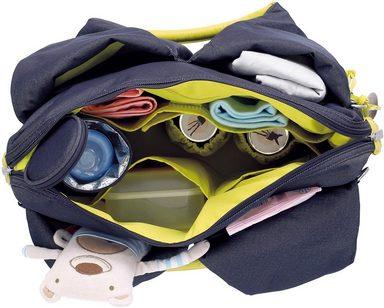 »green Mit Blue« Denim Bag Wickelunterlage Wickeltasche Lässig Label Neckline R5Sqt8wZ