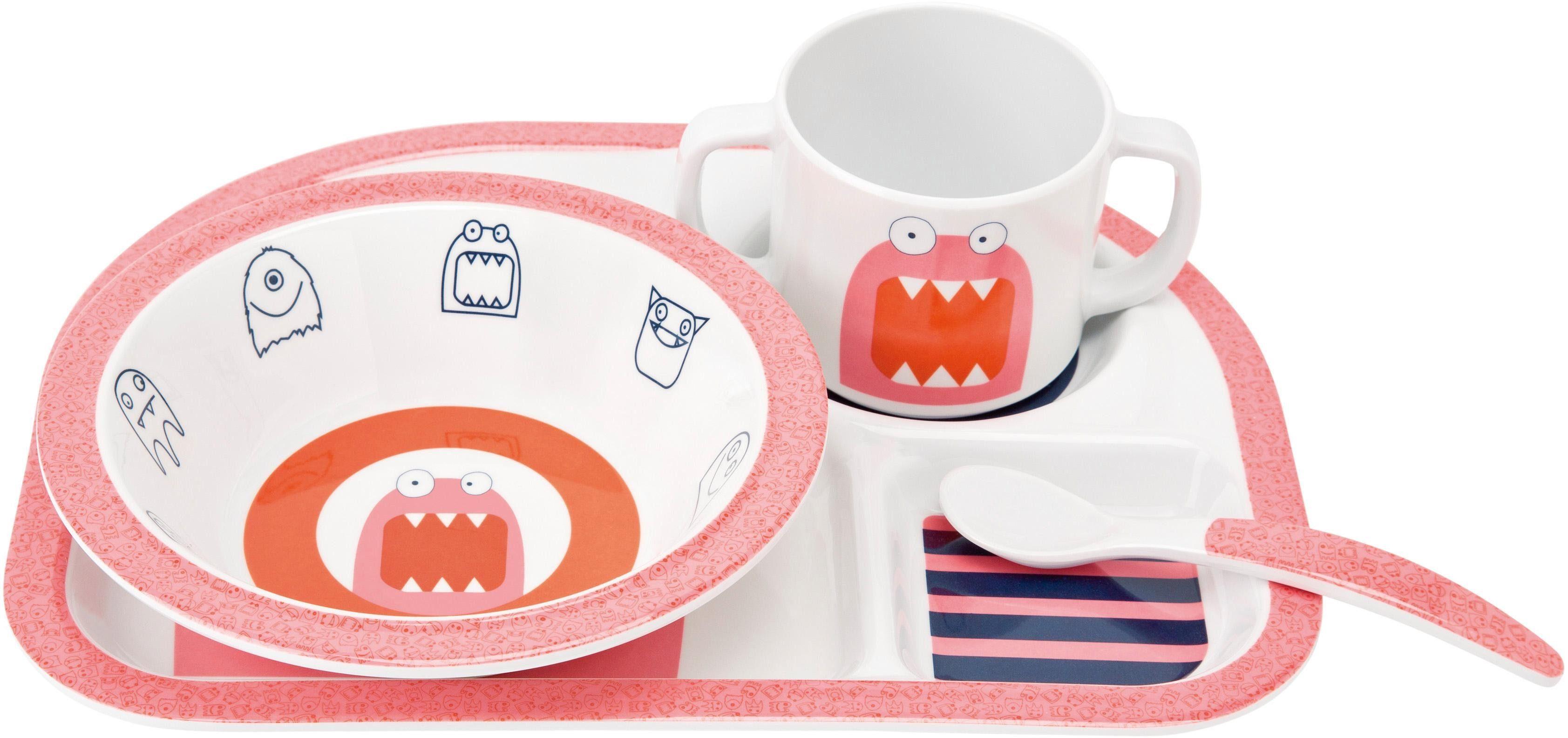 Lässig Kindergeschirr Set, 4-tlg., »Dish Set, Little Monsters Mad Mabel«