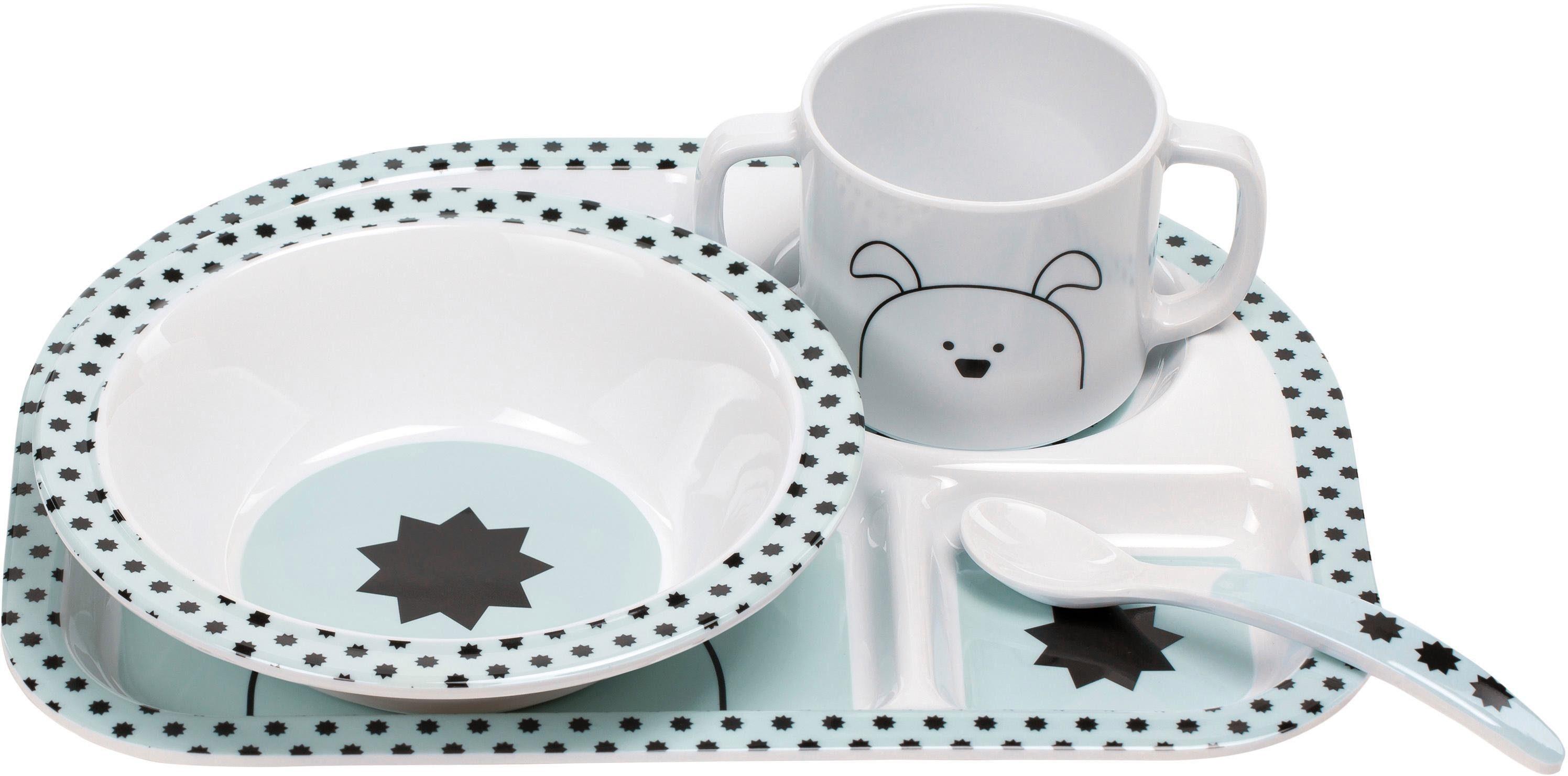 Lässig Kindergeschirr Set, 4-tlg. , »Dish Set, Little Chums Dogs«