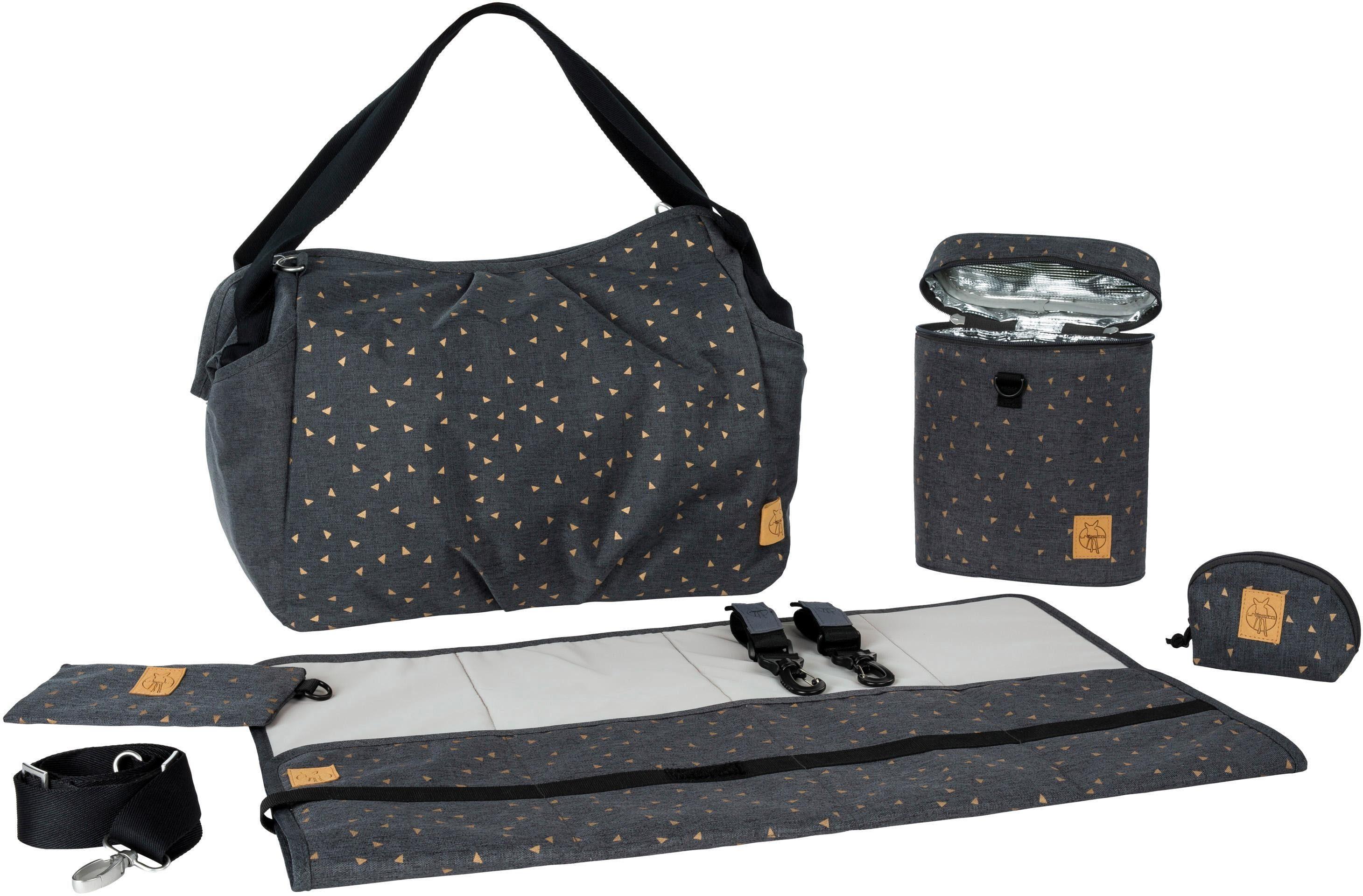 Lässig Wickeltasche mit Wickelunterlage, »Casual Twin Bag Triangle, Dark Grey«