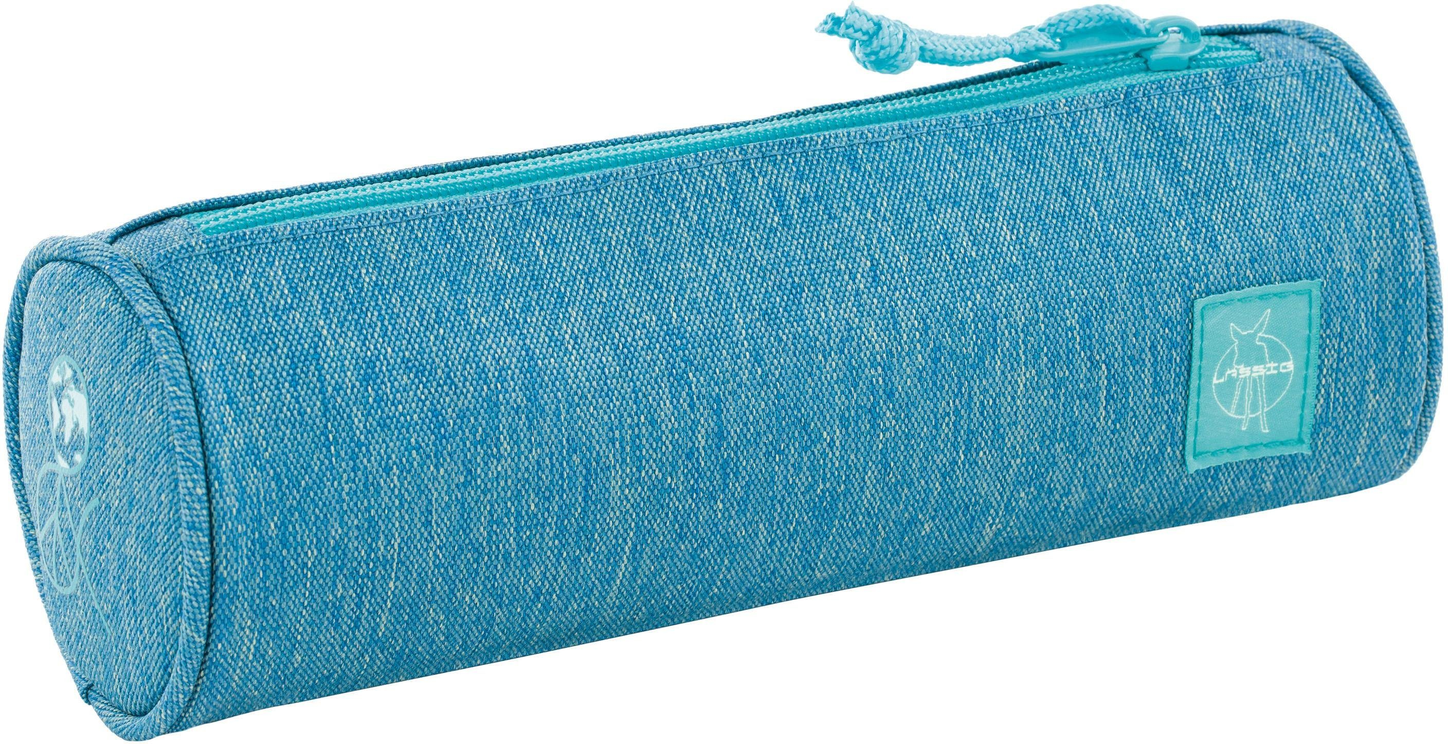 Lässig Schlampermäppchen, »4Kids School Pencil Case, Mélange Blue«