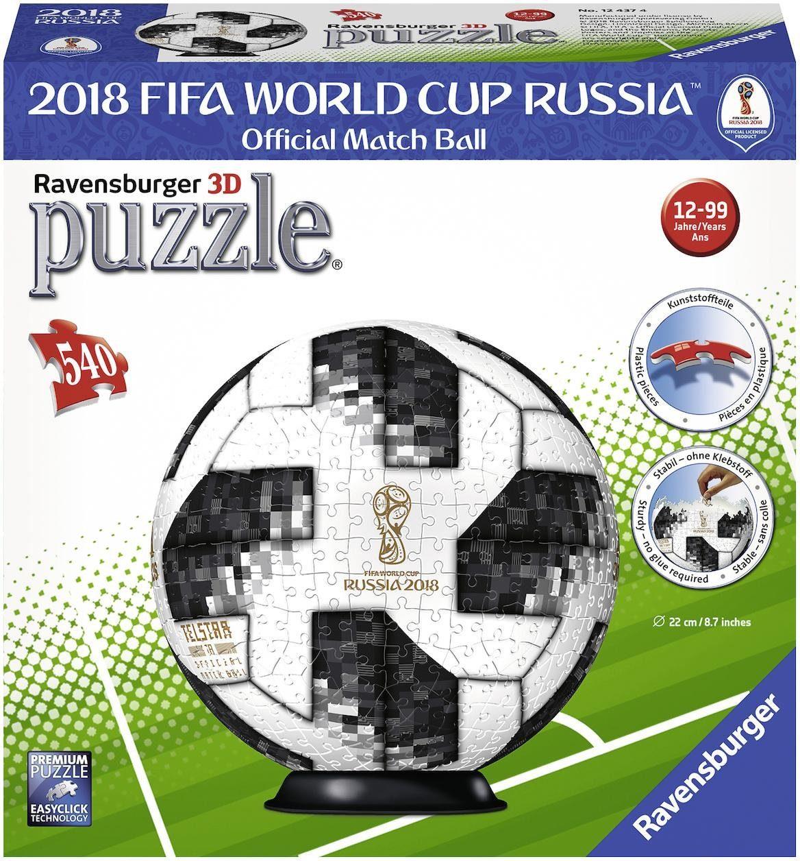 Ravensburger 3D Puzzleball, 540 Teile, »Match Ball 2018 FIFA World Cup«