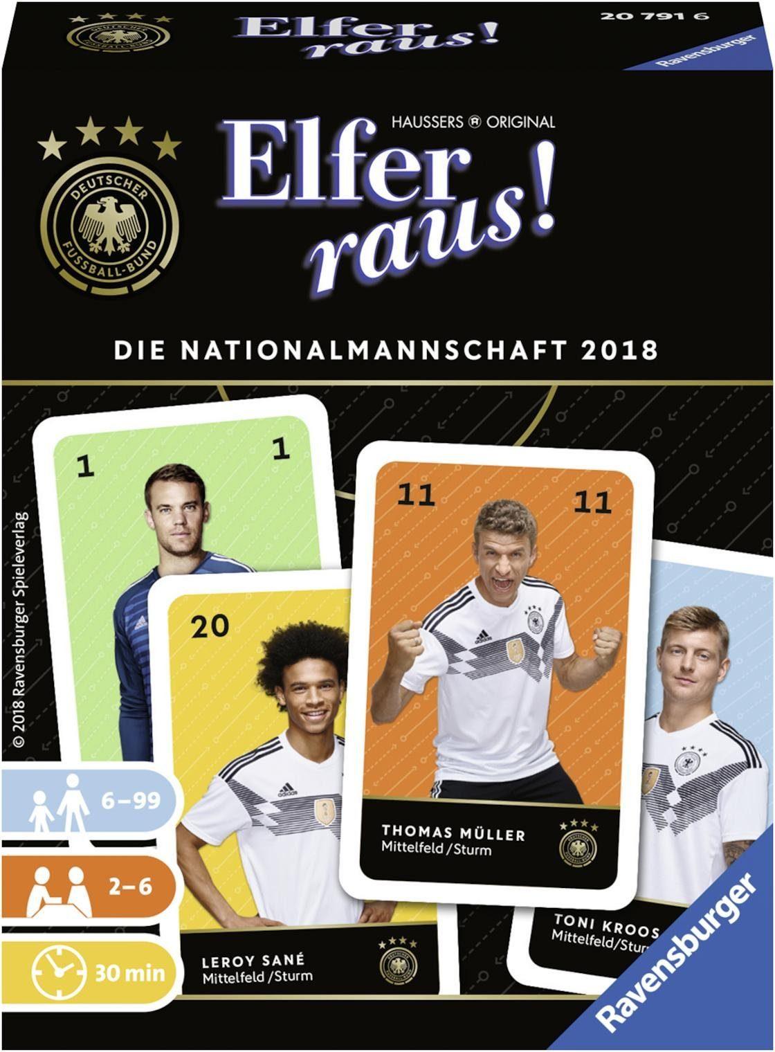 Ravensburger Kartenspiel, »Elfer raus! Die Nationalmannschaft 2018«