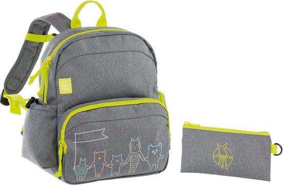 Lässig Kinderrucksack »4Kids Medium Backpack, About Friends Mélange Grey«