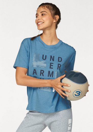 Under Armour® Funktionsshirt »GRAPHIC SQUARE LOGO GIRLFRIEND CREW«
