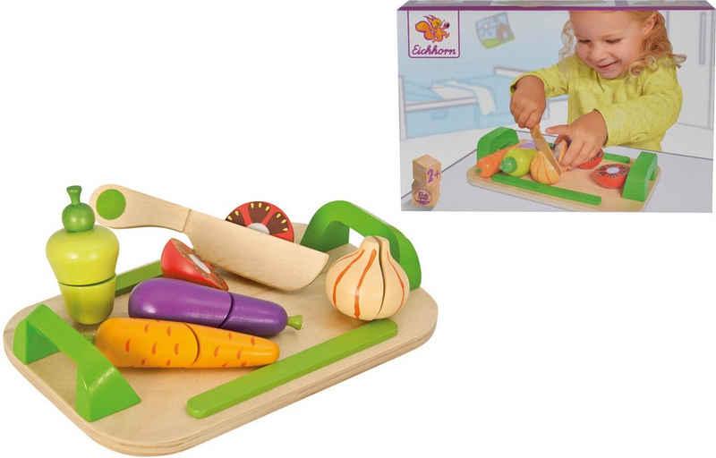 Eichhorn Spiellebensmittel »Holztablett mit Gemüse«, (12-tlg)