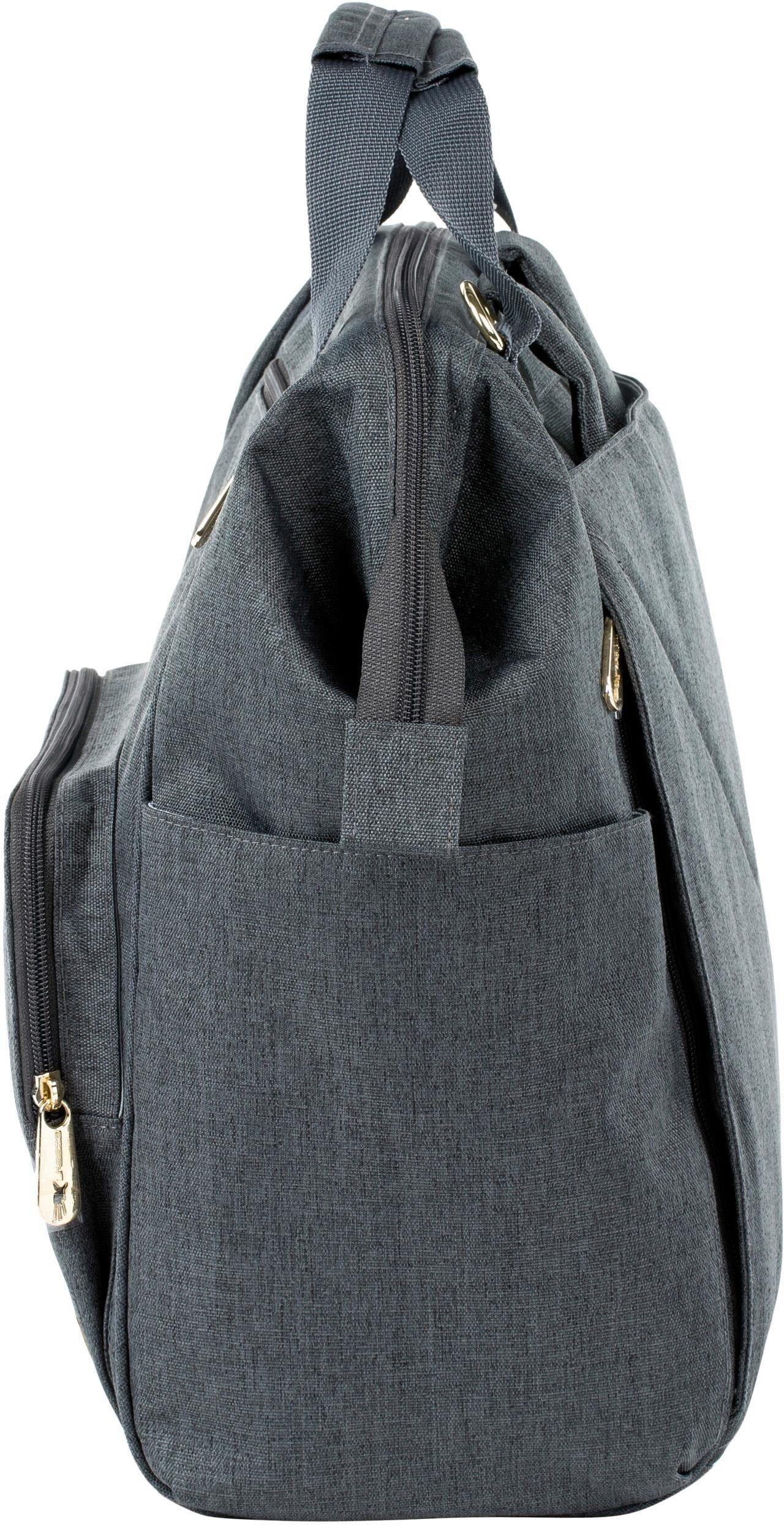 Anthracite« Mit Wickelunterlage Backpack Lässig »glam Wickelrucksack Goldie SZxU7T
