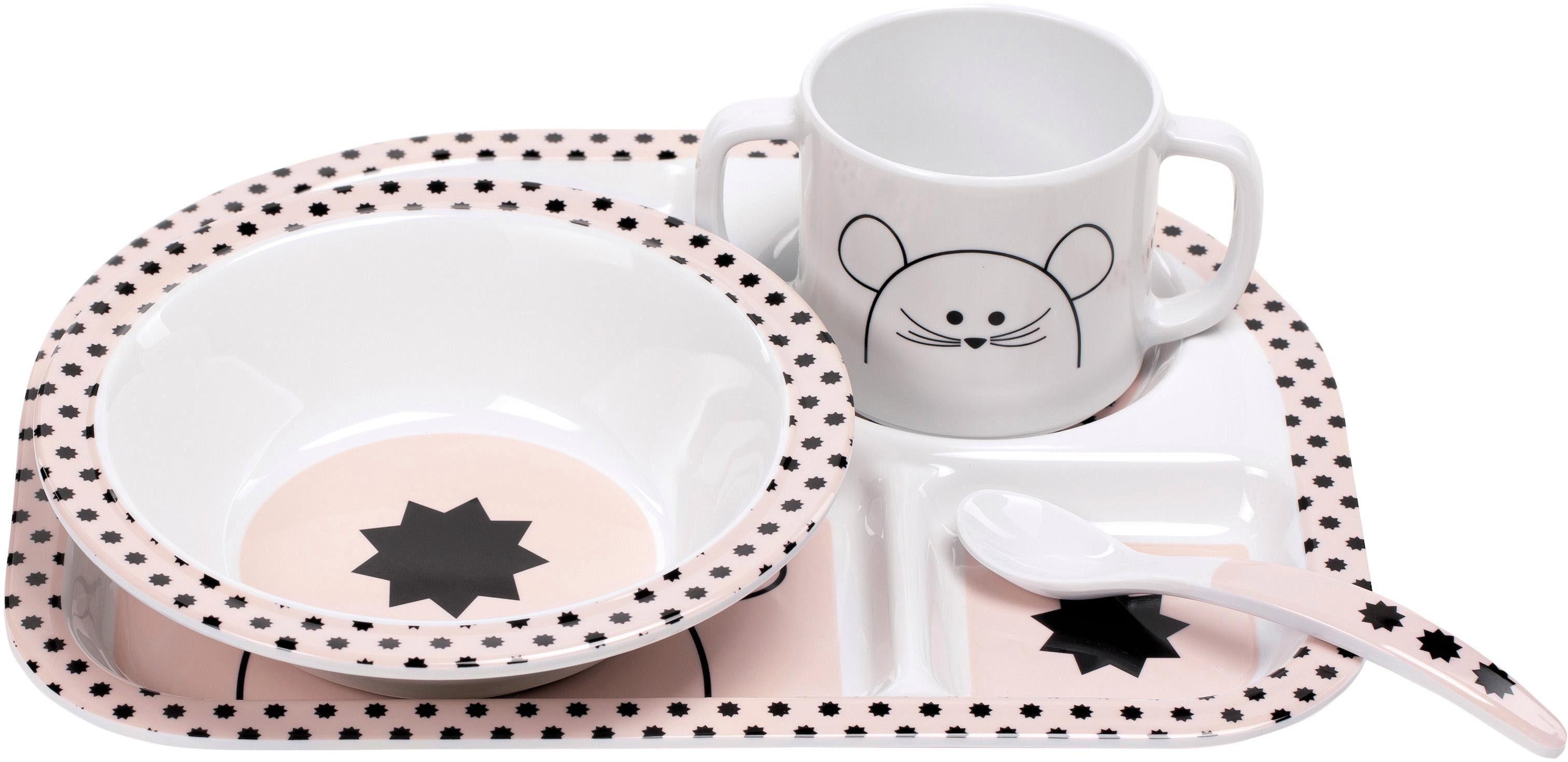 Lässig Kindergeschirr Set, 4-tlg. , »Dish Set, Little Chums Mouse«