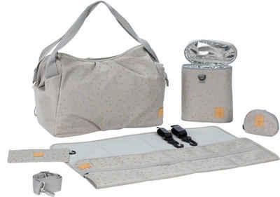 LÄSSIG Wickeltasche »Casual Twin Bag Triangle, Light Grey«, mit Rucksackfunktion und Wickelunterlage; PETA-approved vegan