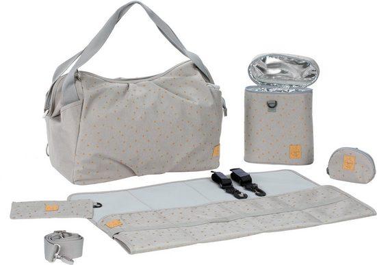Lässig Wickeltasche »Casual Twin Bag Triangle, Light Grey«, mit Rucksackfunktion und Wickelunterlage