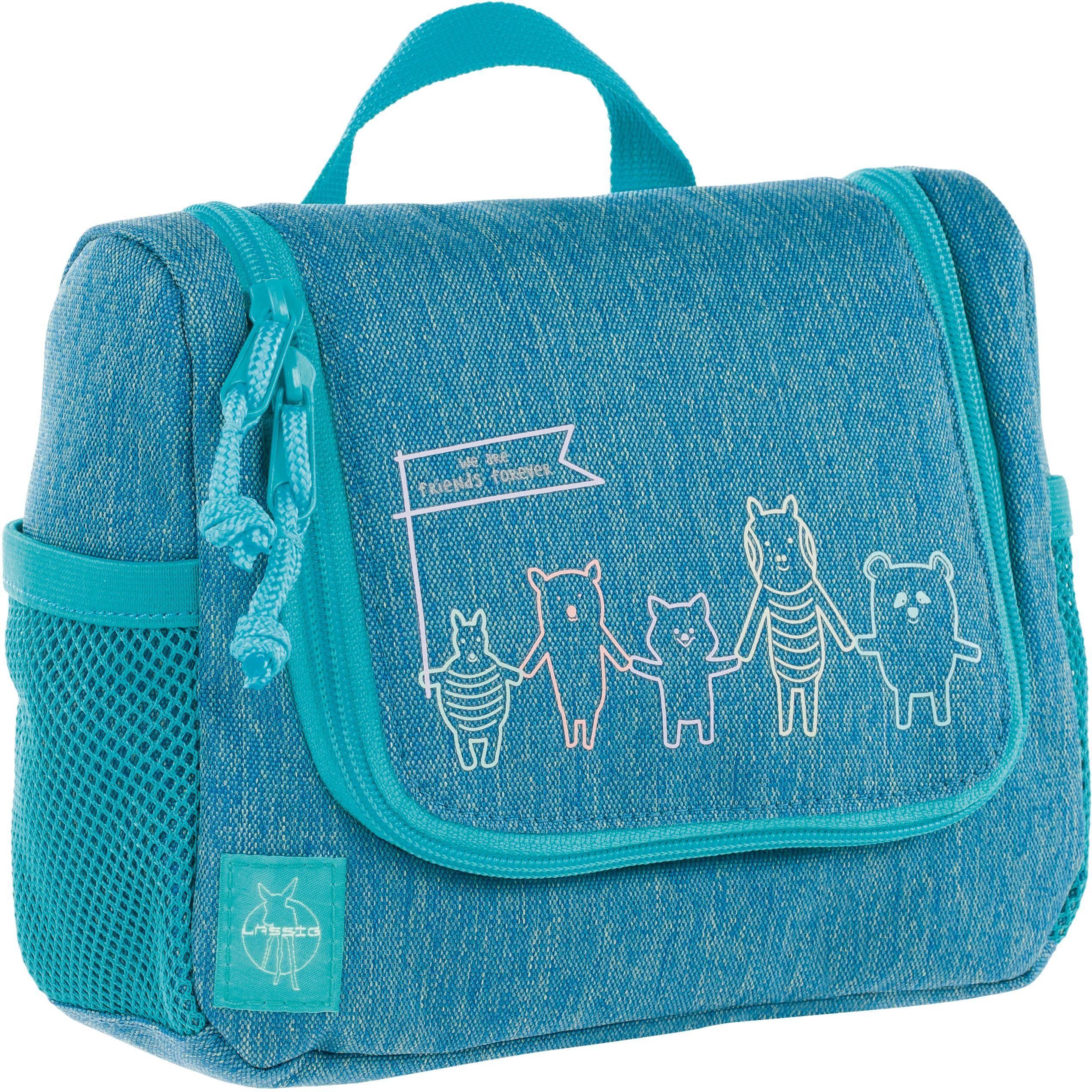 Lässig Kulturbeutel zum Aufhängen, »4Kids Mini Washbag, About Friends, Mélange Blue«
