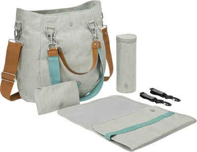 LÄSSIG Wickeltasche »Green Label Mix'n Match Bag, Light Grey«, inklusive Wickelunterlage; zum Teil aus recycelten Material