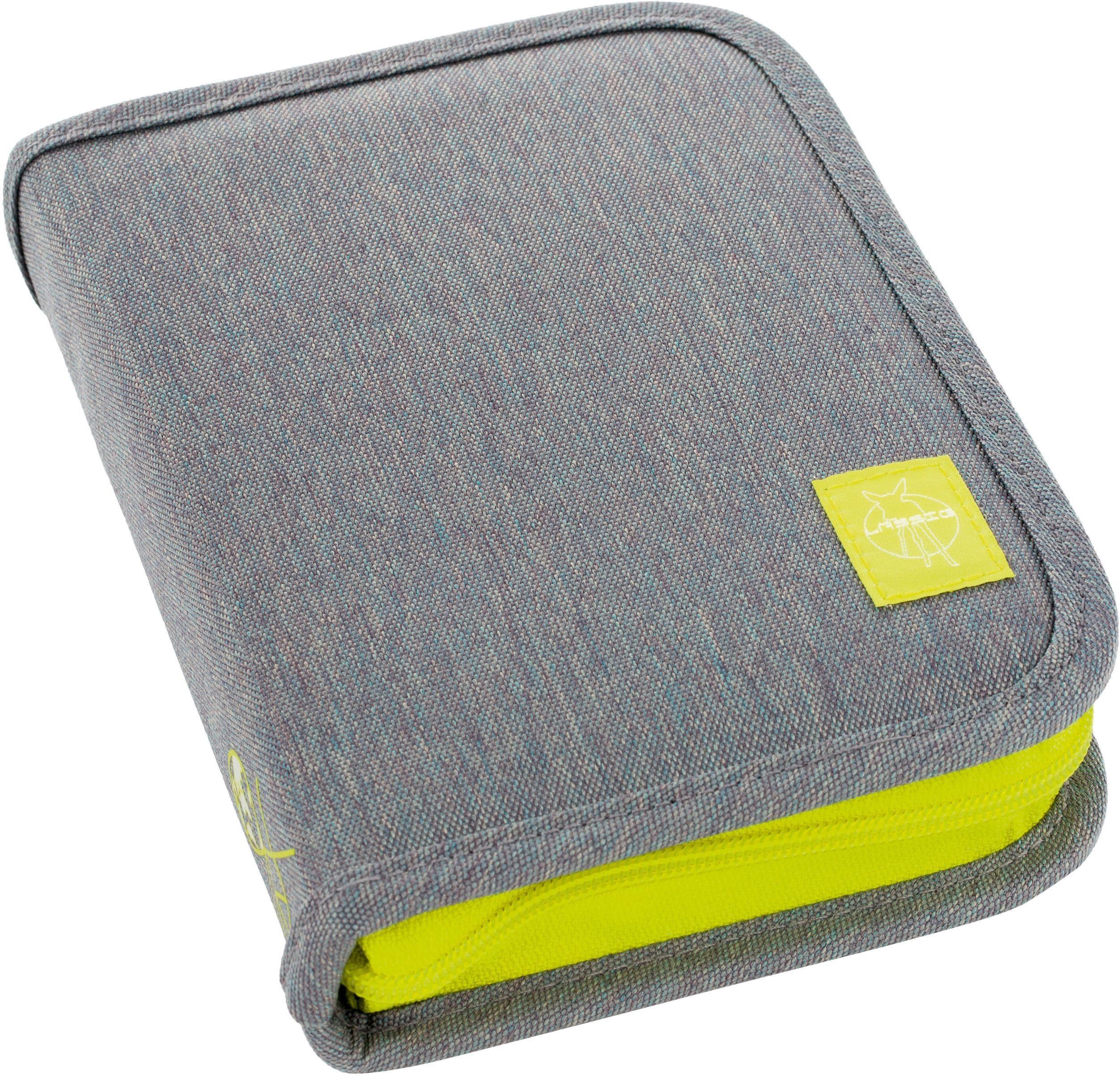 Lässig Federmäppchen, gefüllt, »4Kids School Pencil Case Big, Mélange Grey«