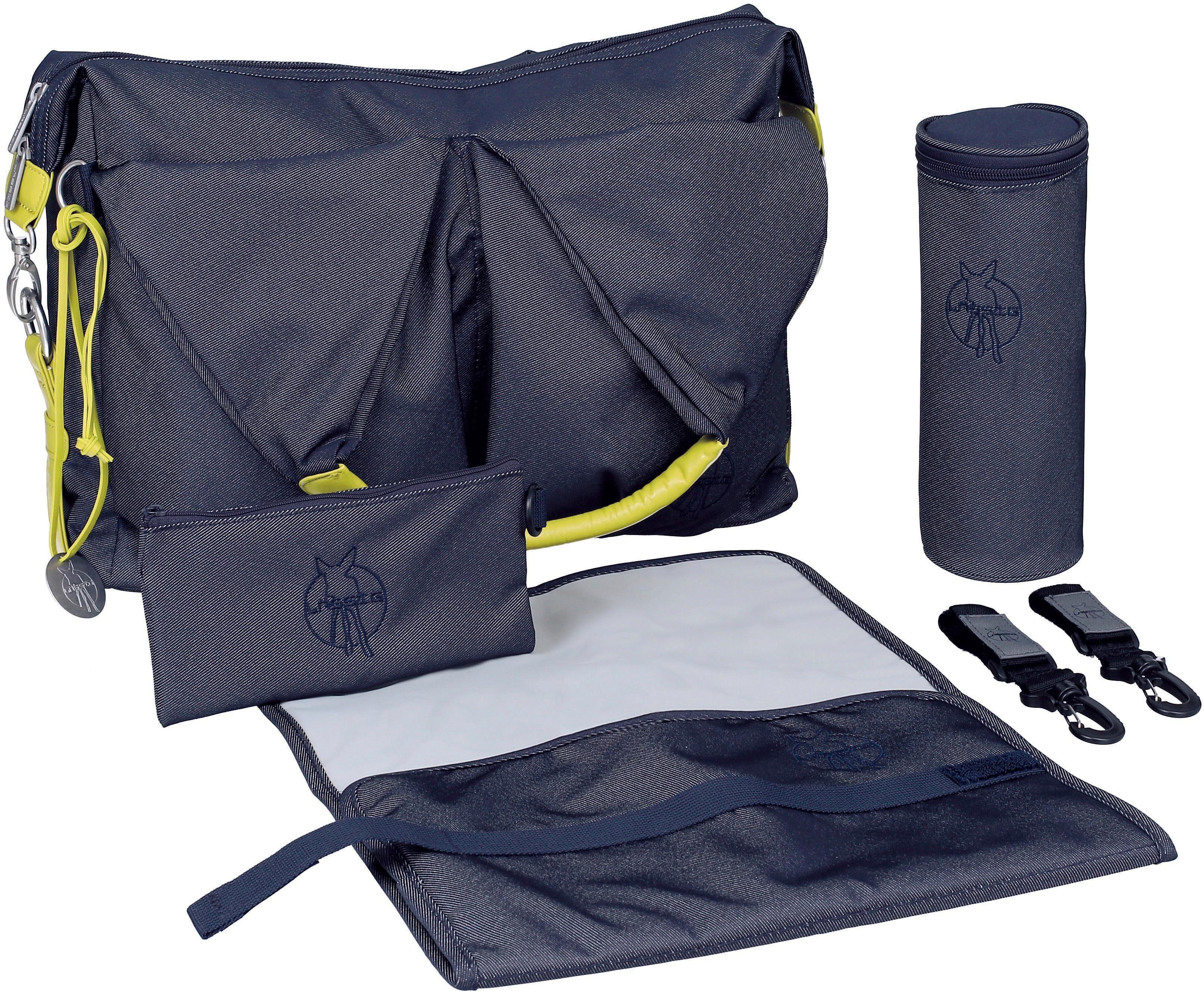 Lässig Wickeltasche mit Wickelunterlage, »Green Label Neckline Bag, Denim Blue«