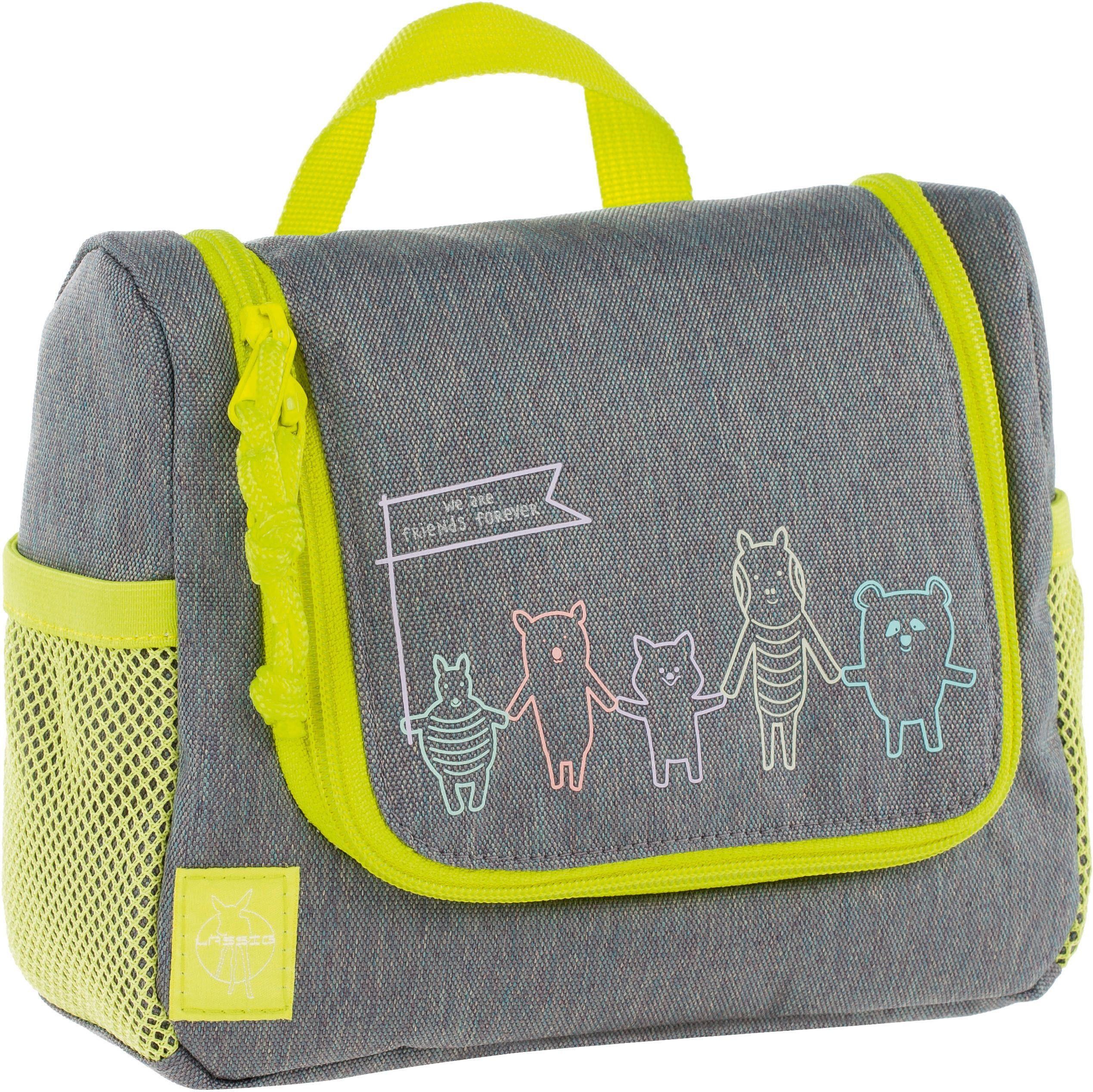 Lässig Kulturbeutel zum Aufhängen, »4Kids Mini Washbag, About Friends Mélange Grey«