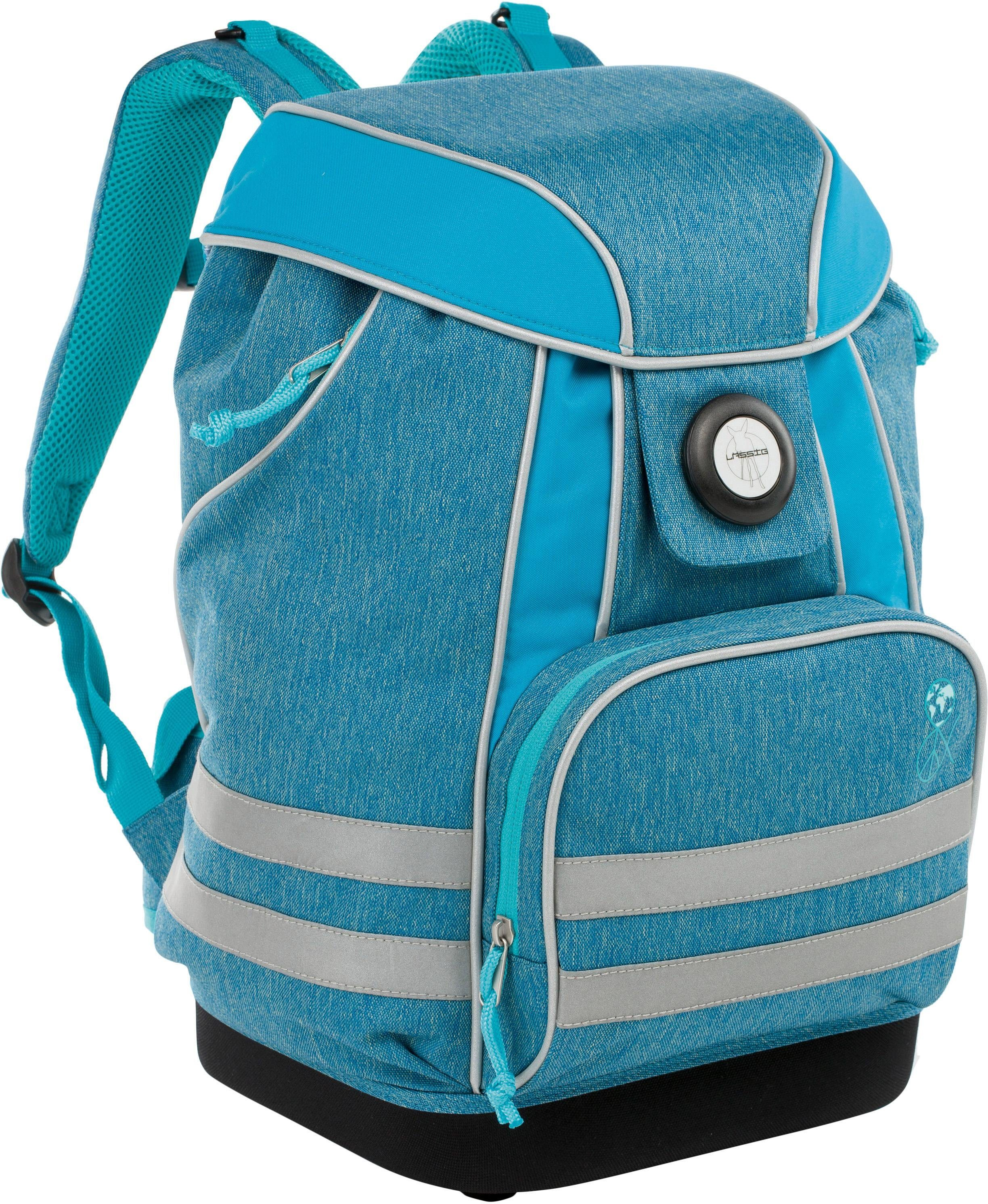 Lässig Schulrucksack, »4Kids School Bag, About Friends, Mélange Blue«