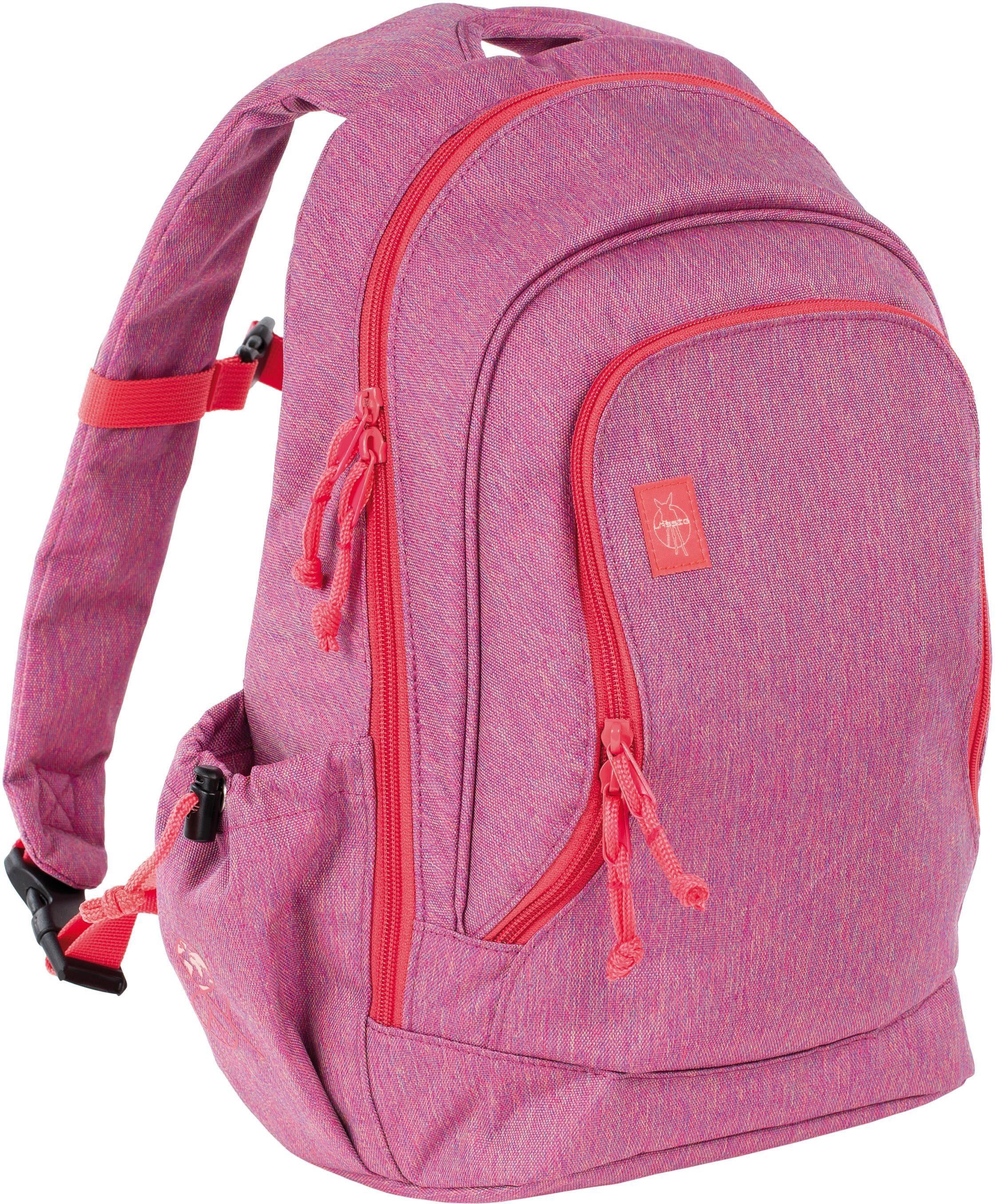 Lässig Kinderrucksack, »4Kids Big Backpack, About Friends Mélange Pink«
