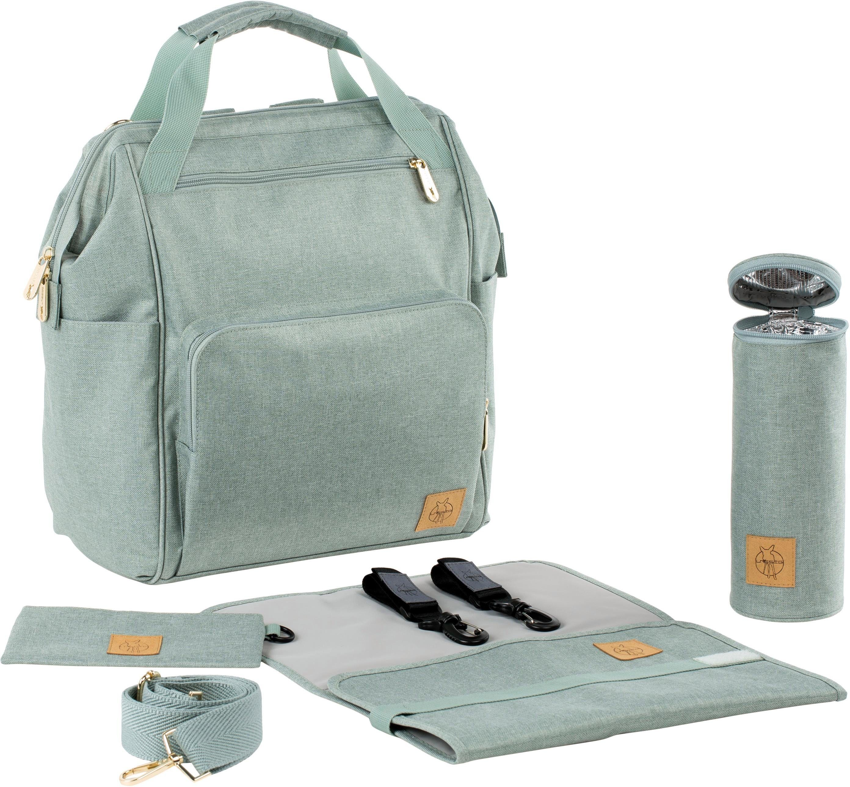 Lässig Wickelrucksack mit Wickelunterlage, »Glam Goldie Backpack, Mint«