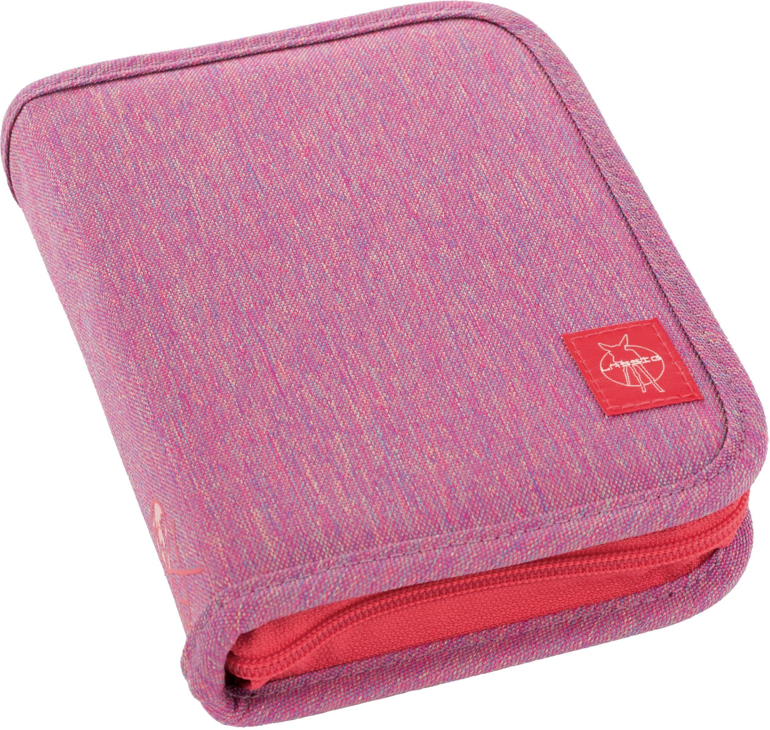Lässig Federmäppchen, gefüllt, »4Kids School Pencil Case Big, Mélange Pink«
