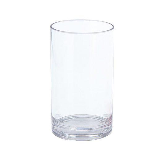 GIMEX Glas »Campinggeschirr Kunststoff Saftglas, Wasserglas, Longdrinkglas transparent 250ml«, SAN