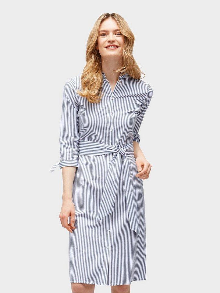 tom tailor jerseykleid »gestreiftes blusen-kleid mit