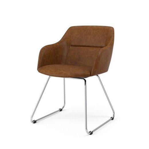 Kasper Wohndesign Stuhl Stoff Metallkufe Versch Farben