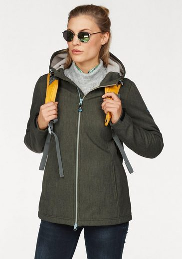 Polarino Softshelljacke in melierter Optik