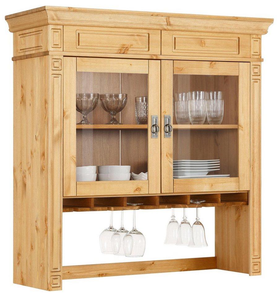 home affaire aufsatzvitrine vinales im klassischen landhausstil breite 113 cm