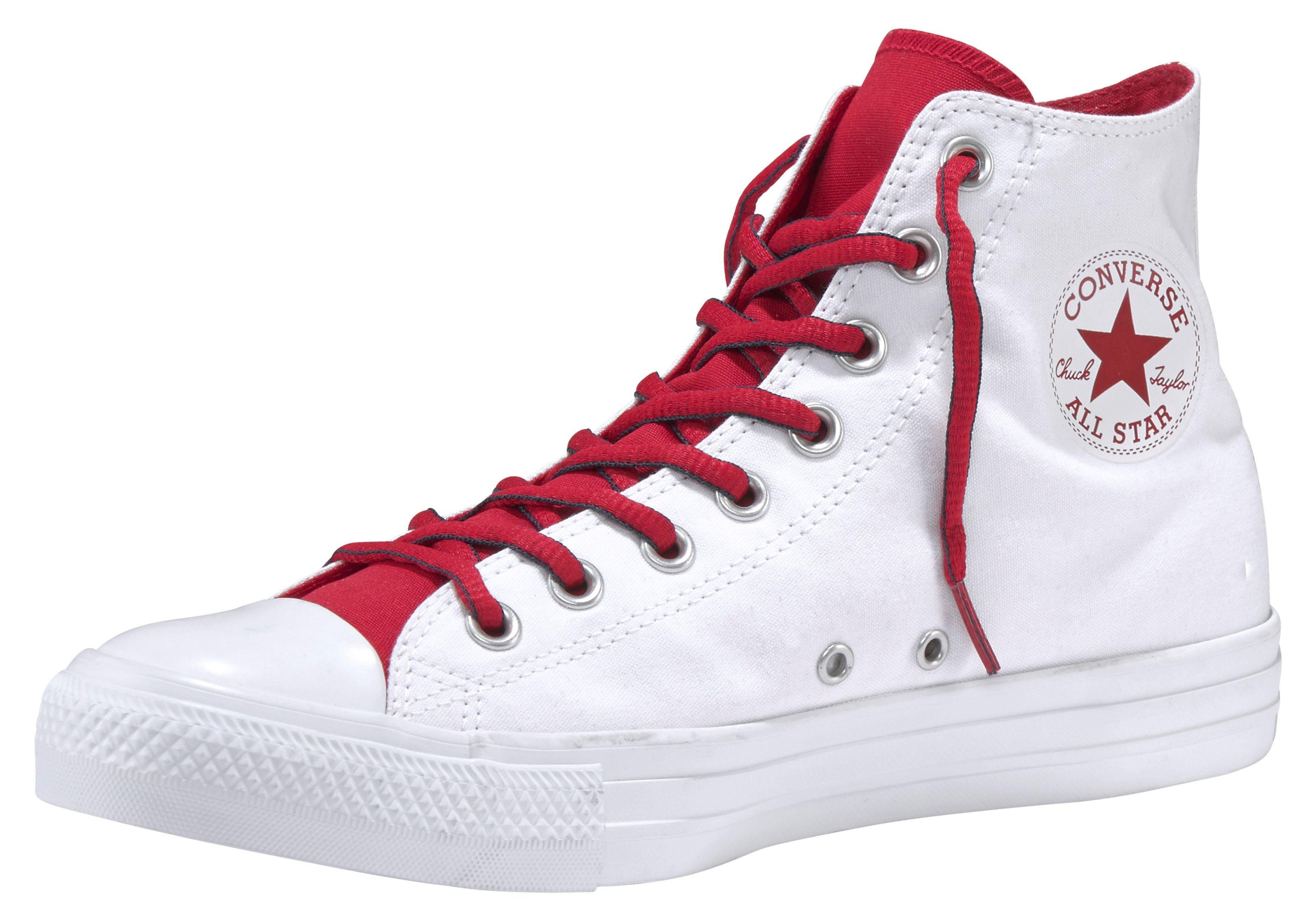 Converse Chuck Taylor All Star Hi Court Prep Block Sneaker online kaufen  weiß-navy-rot