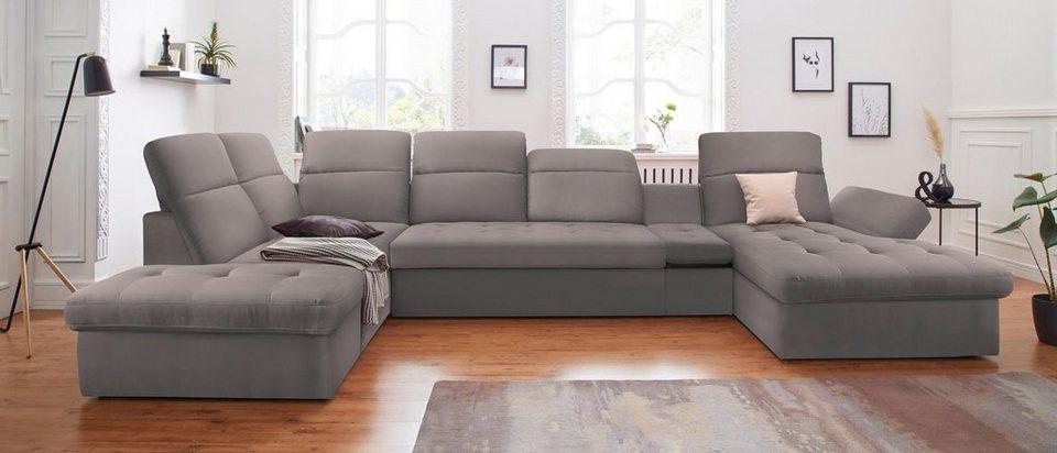sit more wohnlandschaft wahlweise mit bettfunktion und bettkasten recamiere links oder. Black Bedroom Furniture Sets. Home Design Ideas