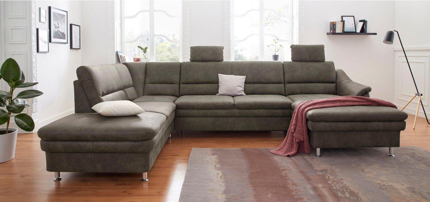 sit&more Wohnlandschaft, mit Federkern, wahlweise mit Bettfunktion und Relaxfunktion | Wohnzimmer > Sofas & Couches > Wohnlandschaften | Braun | Holzwerkstoff | sit&more