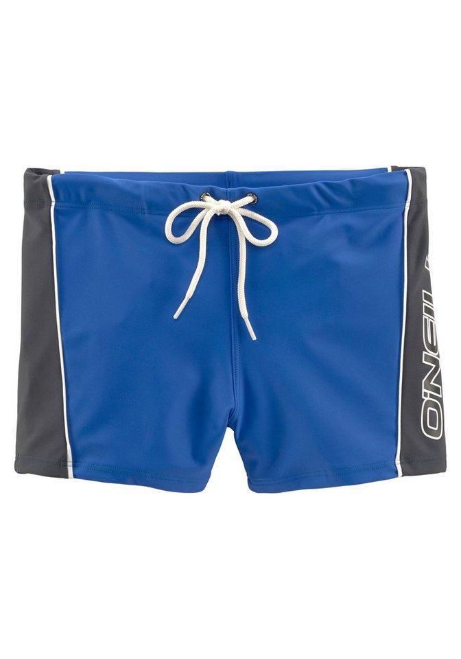 O´Neill Boxer-Badehose, mit kontrastfarbenem Einsatz | Bekleidung > Bademode > Boxerbadehosen | Blau | Polyamid | O´Neill