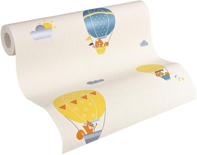 Vliestapete »Flying Balloon«, leicht glänzend, FSC®