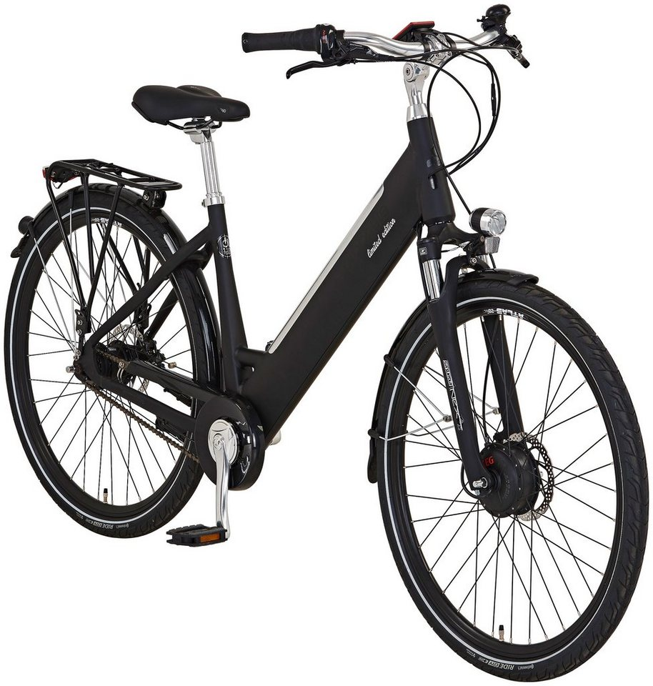 prophete e bike city edition 110 jahre 28 zoll 7 gang frontmotor 490 wh online kaufen otto. Black Bedroom Furniture Sets. Home Design Ideas