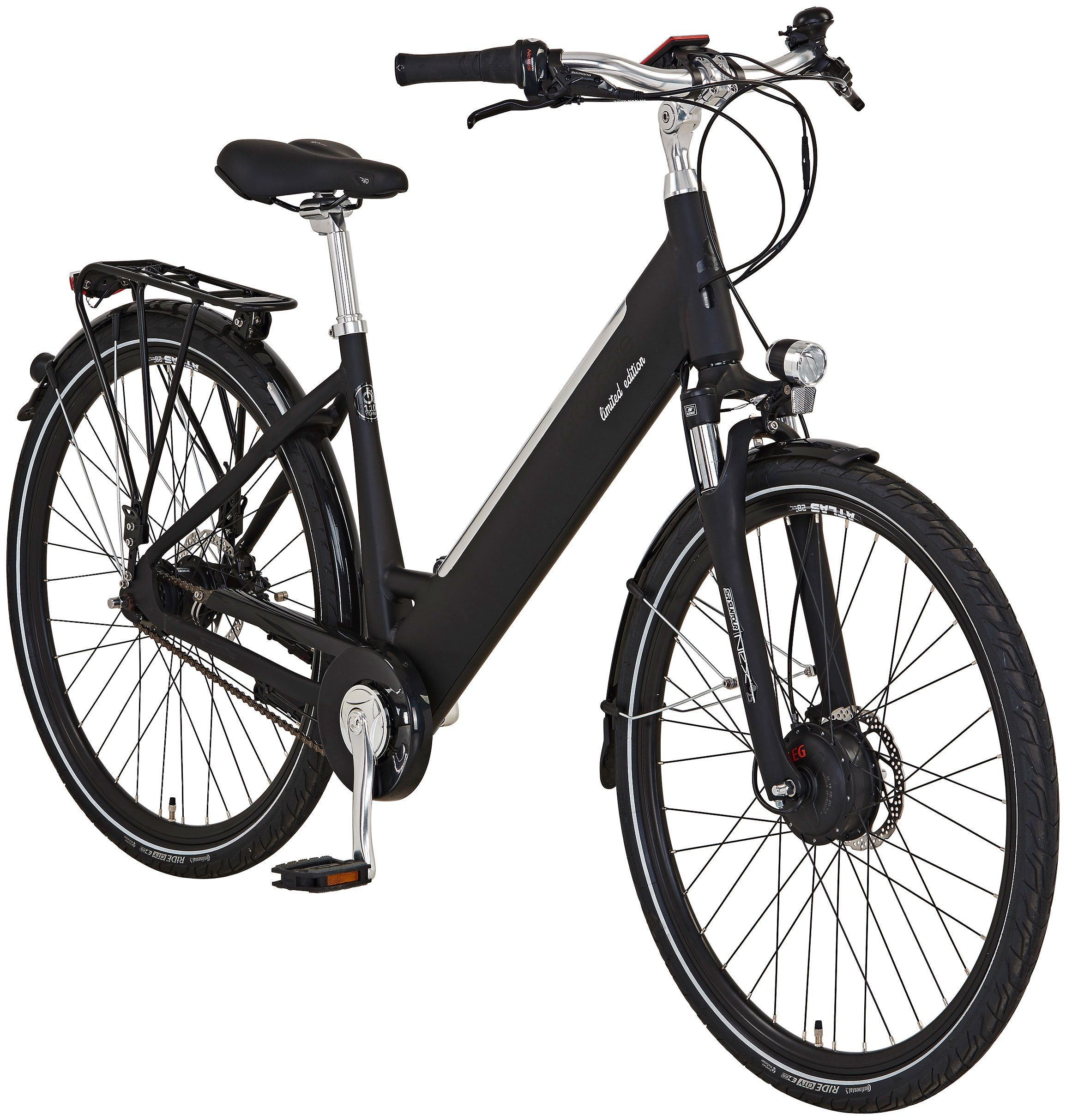 PROPHETE E-Bike City »Edition 110 Jahre«, 28 Zoll, 7 Gang, Frontmotor, 490 Wh