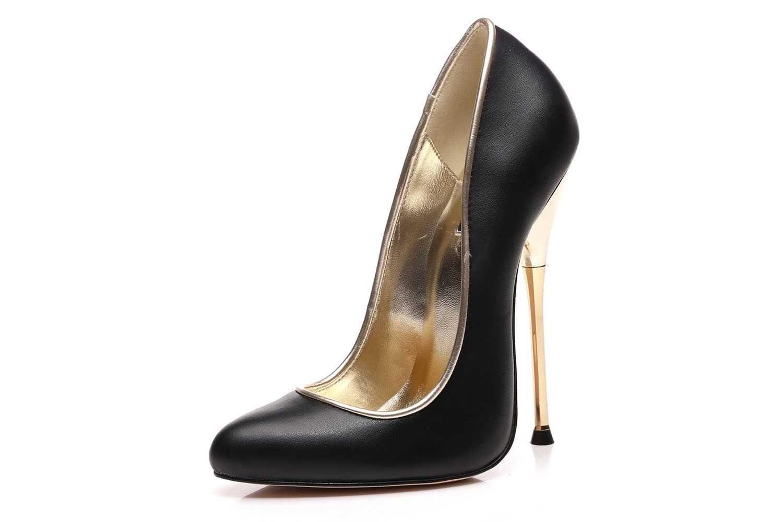 Giaro High Heels in Übergrößen Baby Black Matte