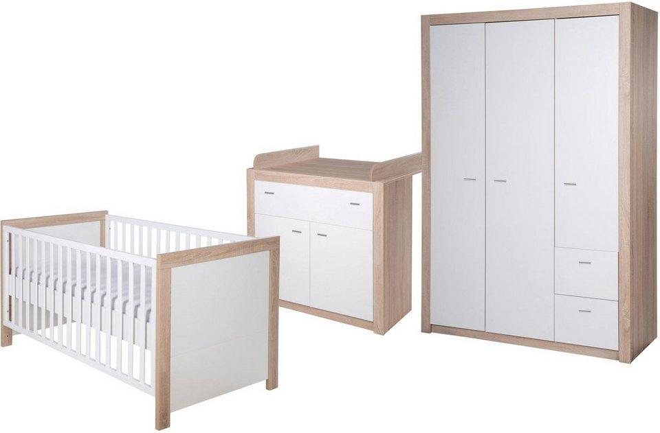 Roba babyzimmer set 3 tlg. kinderzimmer »leni 2 3 türig« online
