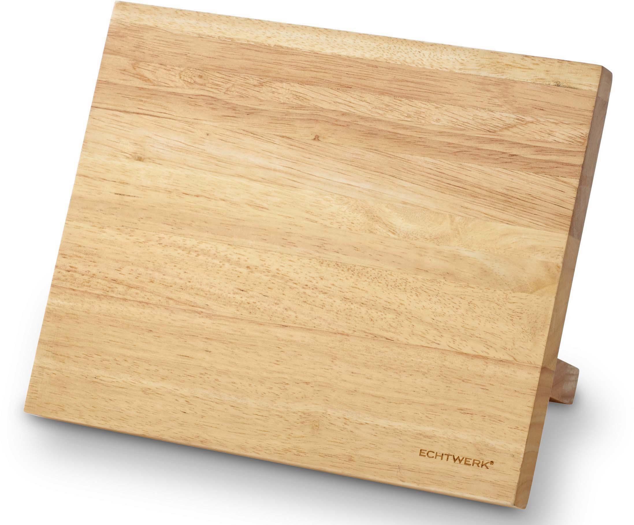 ECHTWERK Magnet-Messerblock (1tlg), aus Kautschuk-Holz
